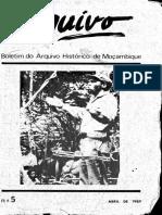 Boletim Do Arquivo Histórico de Moçambique Nº5 - Abril de 1989