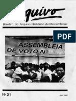Boletim Do Arquivo Histórico de Moçambique Nº21 - Abril de 1997