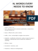 100 Legal Words Every Lawyer Needs to Know – My Blog