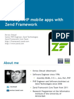 Mobile Web App With ZF