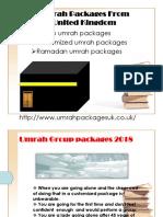 umrah packages 2018 manchester