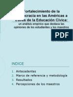 4. Fortalecimiento de La Democracia en Las Amricas a Travs de La Educacin Cvica, OEA (1)