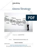 Sample on business strategy by the professional writers from UK