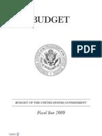 2009 Federal Budget Document