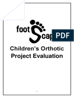 Childrens Orthotic Project Evaluation