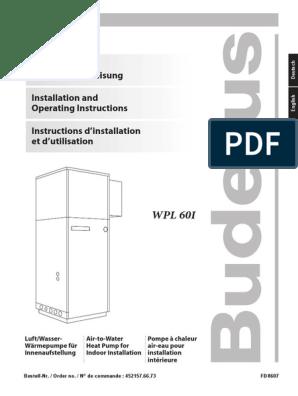 Buderus filtre /à eau /à contre-courant r/égulateur de pression et manom/ètre Anschluss:3//4 Zoll