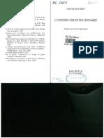 David Rousset-Le Universe Concentrationaire 1998