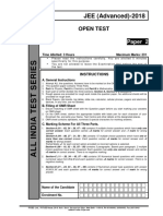 Aits 1718 Open Test Jeea Paper 2