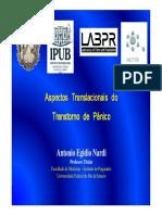 Aspectos Translacionais Do Transtorno Do Pânico_Prof. Antonio Egidio Nardi