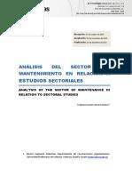 Analisis de Mantenimiento en Las Empresas