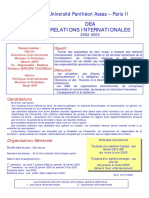 ParisII-DeA Relations Internationales