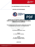 Navarro Richard Diseño Controlador Neurodifuso Conduccion Autonoma Camion Minero Dos Cuerpos