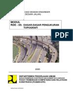Modul RDE 05 Final Dasar-dasar Pengukuran Topografi