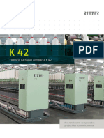 K 42 Compact Spinning Machine Brochure 2539-V2 Pt 75348 Original Portuguese 75348