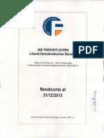 Die Freiheitlichen - Bericht Jahresbilanz 2013