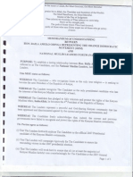 Raila Odinga 'Memorandum of Understanding' with Muslim Clerics in Kenya 8-29-2007
