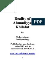 Ahmadiyya- Reality of Khilafat