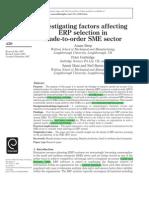 Investigating Factors Affecting