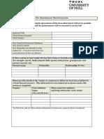 Fee Assessment Questionnaire