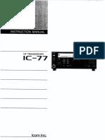 Icom IC-77 Instruction Manual