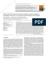 10.1016 J.ijheATFLUIDFLOW.2011.10.004 Analysis the Effect of Advanced Injection Strategies on Engine Performance and Pollutant Emissions in a Heavy Duty DI Diesel Engine by CFD Modeling