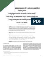 Diseño de Una Escala Para La Evaluación de La Custodia Compartida en El Ámbito Judicial Estrategia Para La Validación Científica de La Escala (ICC)