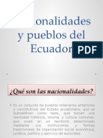 Nacionalidades y Pueblos Del Ecuador