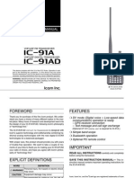 Icom IC-91A_AD Instruction Manual