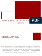 Antecedentes de La Capacitación en Mex.