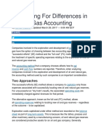 Accounting for Differences in Oil and Gas Accounting