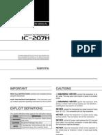 Icom IC-207H Instruction Manual