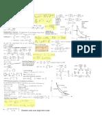 Stat Mech Midterm 1 Equation Sheet
