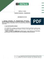 Informativo EDITAL Nº 001