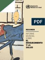 Summary- Informe Mundial Envejecimiento y Salud Oms Report- Spanish