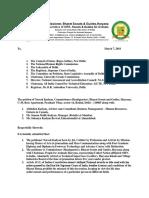 Petition before Committee on Petition Rajya Sabha for Baba Saheb Ambedkar - Abhishek Kadyan