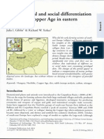 Diet,Dispersal and Social Differentiation During the Copper Age in Eastern Hungary
