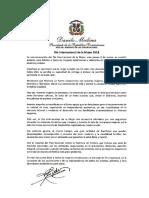 Mensaje del presidente Danilo Medina a las mujeres por el Día Internacional de La Mujer