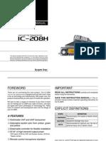 Icom IC-208H Instruction Manual