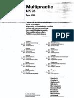 Braun Multipractic Manual Model 4259