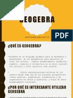 Sofware educativa Geogebra