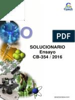 Solucionario Ensayo CB-354 2016