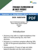 LR the Neurotologic Examination of the Dizzy Patient