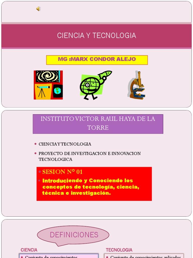 Diapositivas Ciencia Y Tecnologia 1 Science Conocimiento