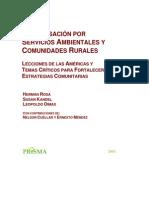 Compensación  por servicios ambientales - Rosa y otros