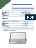 Especificaciones Técnicas Luminaria LED