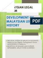 Topic 4 Development of Malaysian Legal History