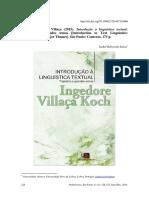 KOCH Ingedore Villaca Introducao a Linguistica Tex