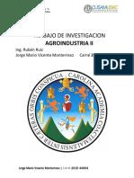 Agro industria Trabajo 1 Investigación MANUFACTURA MAQUINACIÓN