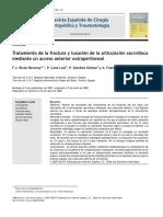 2009 Tratamiento de la fractura y luxación de la articulación sacroilíaca mediante un acceso anterior extraperitoneal