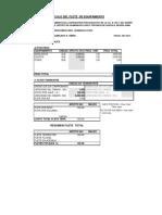Calculo Costos de Flete MOBILIARIO